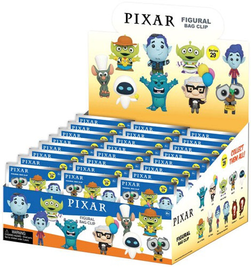 Disney 3D Figural Keyring Pixar 25th Anniversary Mystery Box [24 Packs]