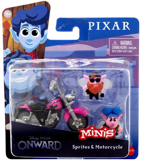 Disney / Pixar Onward Minis Sprites & Motorcycle Figure 2-Pack
