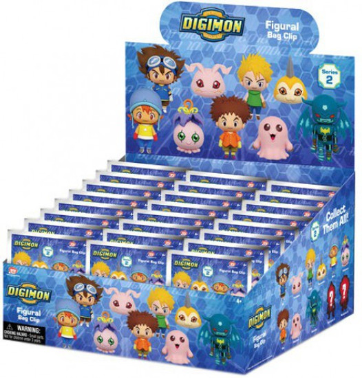 3D Figural Keyring Digimon Series 2 Mystery Box [24 Packs]