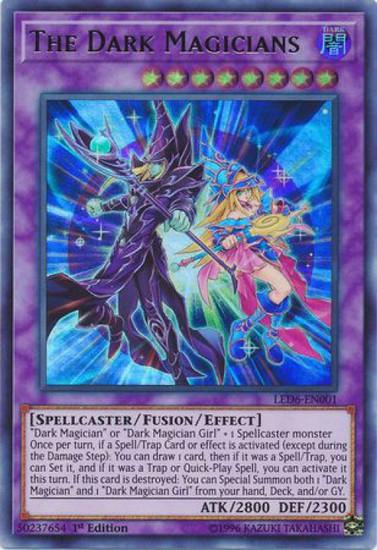 YuGiOh Legendary Duelists: Magical Hero Ultra Rare The Dark Magicians LED6-EN001
