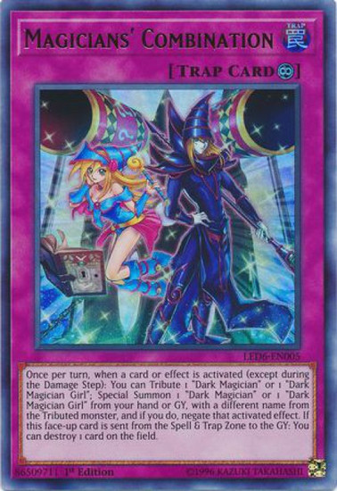 YuGiOh Legendary Duelists: Magical Hero Ultra Rare Magicians' Combination LED6-EN005