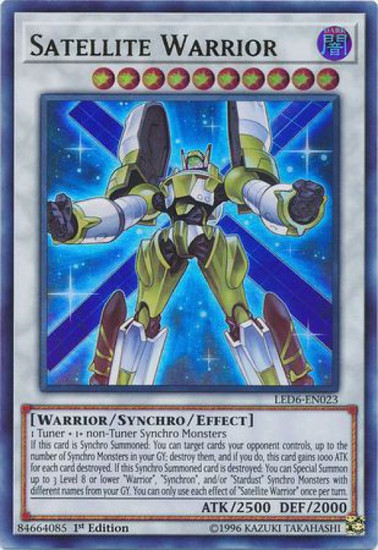 YuGiOh Legendary Duelists: Magical Hero Ultra Rare Satellite Warrior LED6-EN023