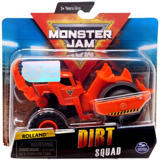 Monster Jam Dirt Squad Rolland Diecast Car [Orange]