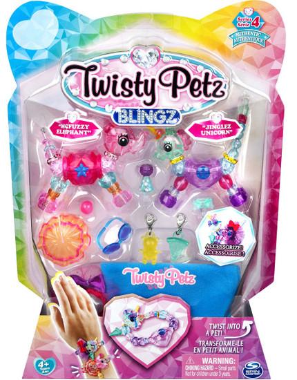 Twisty Petz Blingz Series 4 Starzie Elephant & Jinglez Unicorn 2-Pack Set