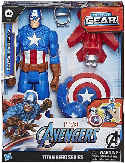 Marvel Avengers Titan Hero Series Blast Gear Captain America Action Figure