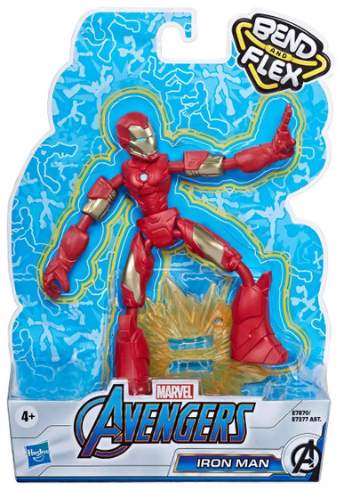 Marvel Avengers Bend & Flex Iron man Action Figure