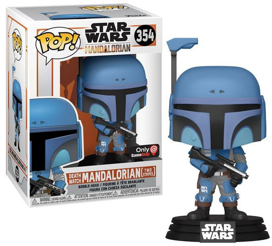 Funko The Mandalorian POP! Star Wars Death Watch Mandalorian Exclusive Vinyl Bobble Head #354 [Two Stripes]