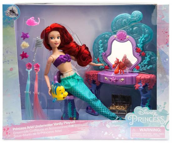 Disney Princess The Little Mermaid Princess Ariel Underwater Vanity Exclusive 11.5-Inch Doll Playset