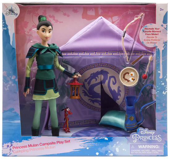 Disney Princess Princess Mulan Campsite Exclusive 11.5-Inch Doll Playset