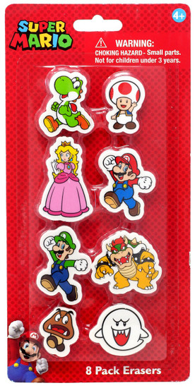Super Mario Eraser 8-Pack