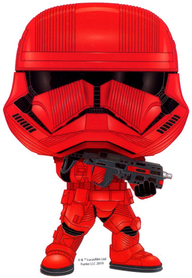 Funko Star Wars The Rise of Skywalker Sith Trooper Exclusive 3.75-Inch Sticker [Forces of Darkness]