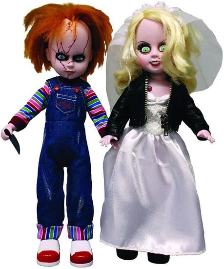 Living Dead Dolls Bride of Chucky LDD Presents Chucky & Tiffany 10-Inch Doll Set