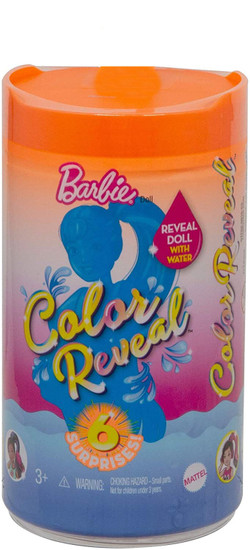 Barbie Color Reveal Sunny N' Cool Beach Series Chelsea Surprise Doll
