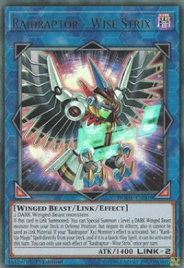 YuGiOh Duel Overload Ultra Rare Raidraptor - Wise Strix DUOV-EN005