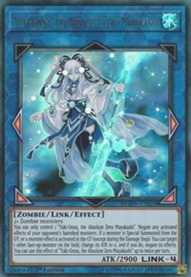 YuGiOh Duel Overload Ultra Rare Yuki-Onna, the Absolute Zero Mayakashi DUOV-EN025