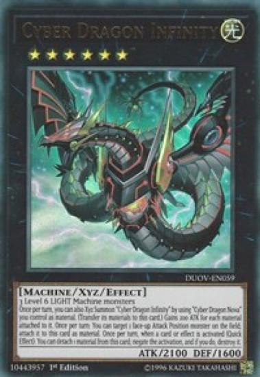 YuGiOh Duel Overload Ultra Rare Cyber Dragon Infinity (alternate art) DUOV-EN059