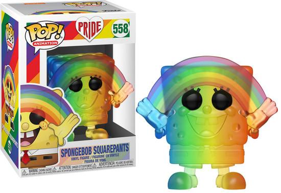 Funko Pride 2020 POP! Animation SpongeBob Squarepants Vinyl Figure #558 [Rainbow Pride 2020]