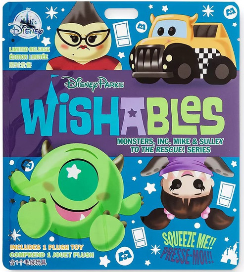 Disney Wishables Monsters, Inc. Mike & Sulley to the Rescue 5-Inch Micro Plush Mystery Pack [1 RANDOM Figure]