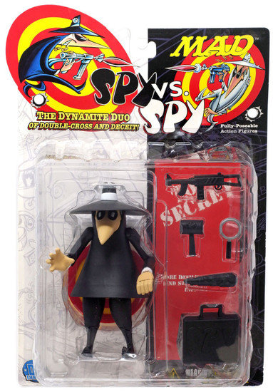 MAD Magazine Spy vs Spy Black Spy Action Figure [Damaged Package]
