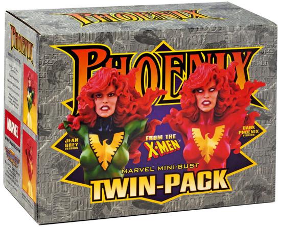 Marvel X-Men Jean Grey & Dark Phoenix Exclusive Mini Bust 2-Pack