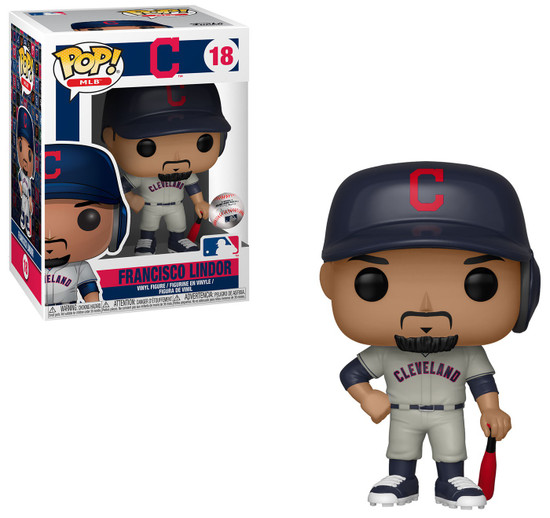 Funko MLB Cleveland Indians POP! Sports Baseball Francisco Lindor Vinyl Figure [Road Uniform, Damaged Package]