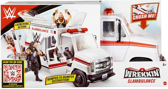 WWE Wrestling Wrekkin' Slambulance Vehicle Playset