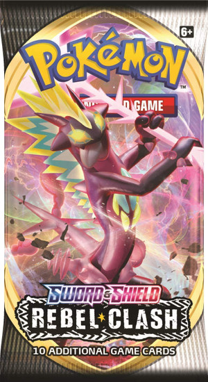 Pokemon Trading Card Game Sword & Shield Rebel Clash Booster Pack [10 Cards]