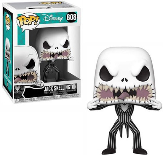 Funko Nightmare Before Christmas POP! Disney Jack Skellington Vinyl Figure #808 [Scary Face]