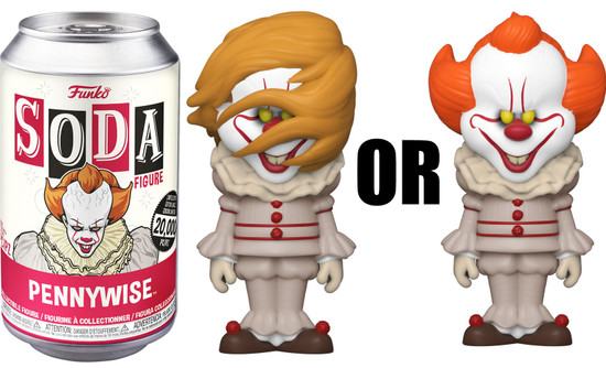 Funko IT (2017) Vinyl Soda Pennywise Limited Edition of 20,000! Vinyl Figure [1 RANDOM Figure, Look For The Chase!]