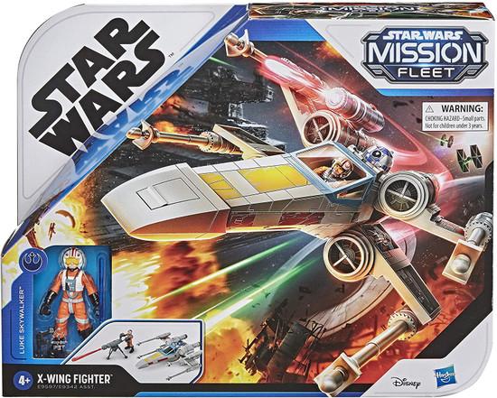 Star Wars Mission Fleet Luke Skywalker & X-Wing Fighter Vehicle & Action Figure