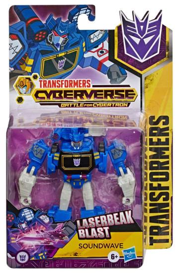 Transformers Cyberverse Battle For Cybertron Soundwave Warrior Action Figure [Laserbeak Blast]