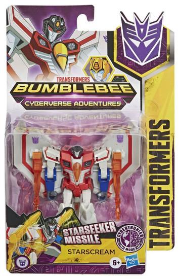 Transformers Bumblebee Cyberverse Adventures Starscream Warrior Action Figure