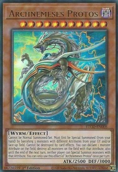 YuGiOh Eternity Code Ultra Rare Archnemeses Protos ETCO-EN008