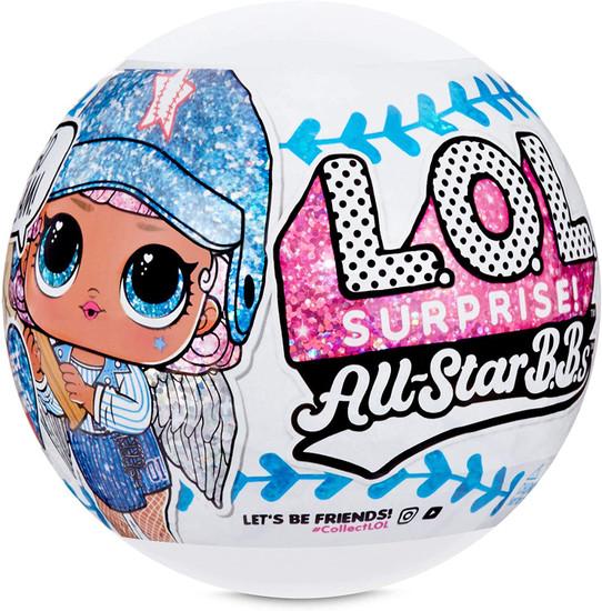 LOL Surprise All Stars BBs Series 1 Baseball Lucky Stars Mystery Pack [BLUE Team, 1 RANDOM Figure!]