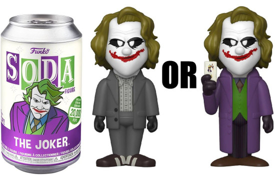 Funko Batman The Dark Knight Vinyl Soda Joker Limited Edition of 20,000! Vinyl Figure [1 RANDOM Figure Look For The Chase!]