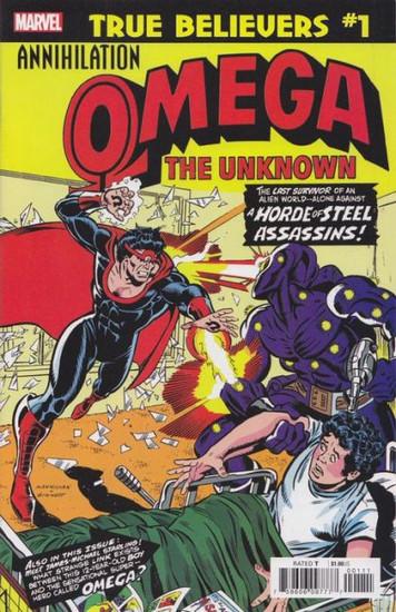 Marvel True Believers: Annihilation - Omega Unknown #1 Comic Book