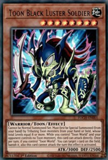 YuGiOh Toon Chaos Ultra Rare Toon Black Luster Soldier TOCH-EN001