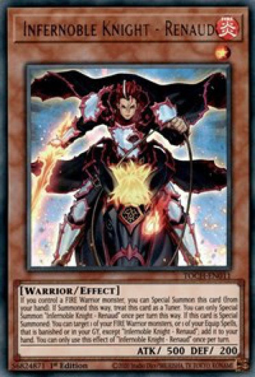 YuGiOh Toon Chaos Ultra Rare Infernoble Knight - Renaud TOCH-EN011
