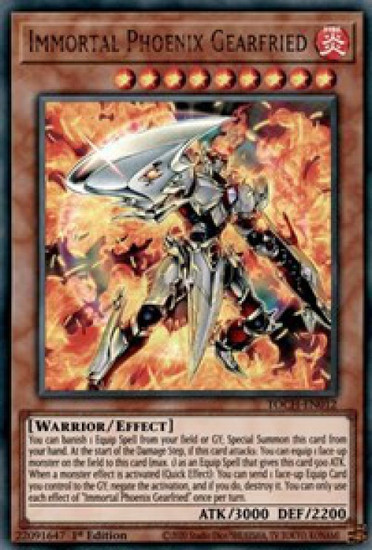 YuGiOh Toon Chaos Ultra Rare Immortal Phoenix Gearfried TOCH-EN012