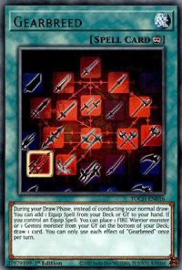 YuGiOh Toon Chaos Rare Gearbreed TOCH-EN016