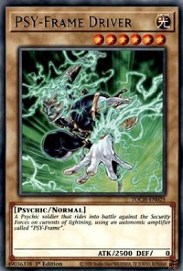 YuGiOh Toon Chaos Rare PSY-Frame Driver TOCH-EN025