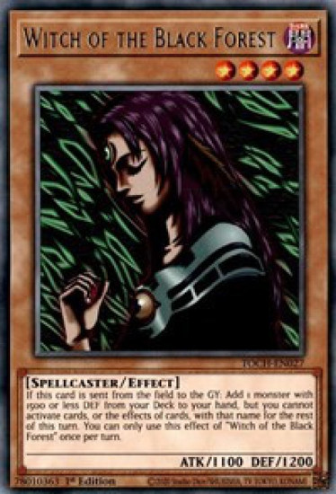 YuGiOh Toon Chaos Rare Witch of the Black Forest TOCH-EN027