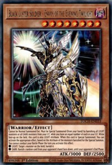 YuGiOh Toon Chaos Rare Black Luster Soldier - Envoy of the Evening Twilight TOCH-EN033