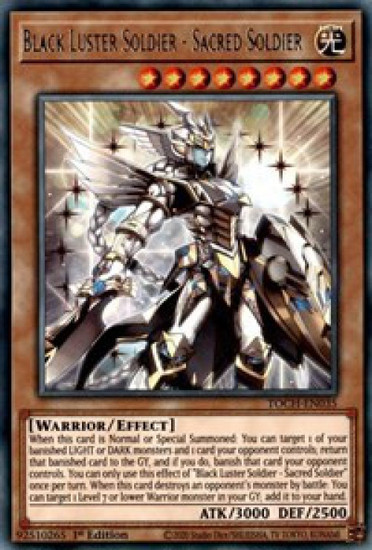 YuGiOh Toon Chaos Rare Black Luster Soldier - Sacred Soldier TOCH-EN035