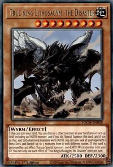 YuGiOh Toon Chaos Rare True King Lithosagym, the Disaster TOCH-EN038