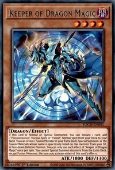 YuGiOh Toon Chaos Rare Keeper of Dragon Magic TOCH-EN041