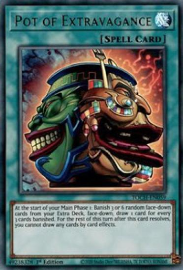 YuGiOh Toon Chaos Ultra Rare Pot of Extravagance TOCH-EN059