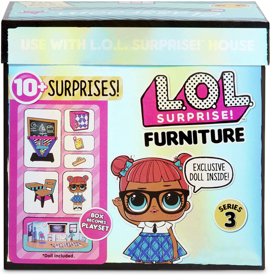 LOL Surprise Dolls Furniture Series 3 Classroom & Teacher's Pet Play Set Pack