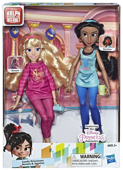 Disney Wreck-It Ralph 2: Ralph Breaks the Internet Comfy Princesses Aurora & Jasmine 11-Inch Doll 2-Pack