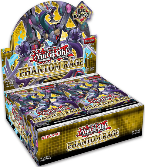 YuGiOh Trading Card Game Phantom Rage Booster Box [24 Packs]